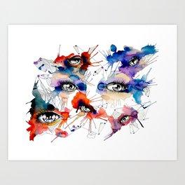 All Eyes by carographic, Carolyn Mielke Art Print