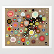 Whimsical Nursery Happy Circles Art Print