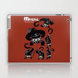 Moana, Animated Movie Poster, Oceania, Vaiana, minimal, alternative, film, playbill, 3D cartoon Laptop & iPad Skin