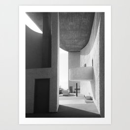 Ronchamp Chapel 001 Art Print