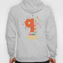 Nine Years old ninth Birthday Party T-Shirt Dz7rg Hoody