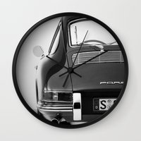 porsche Wall Clocks featuring Porsche by CABINWONDERLAND