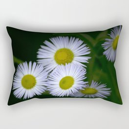 White Wildflowers Rectangular Pillow