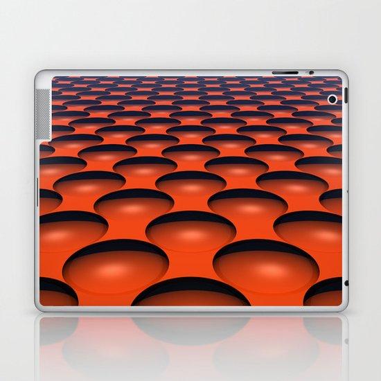 Orange Dimples Laptop & iPad Skin