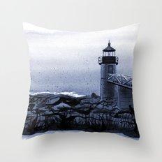 Lighthouse, Marshall Point, Maine Throw Pillow