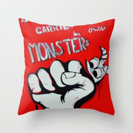 Everyone Carries Their Own Monsters Throw Pillow