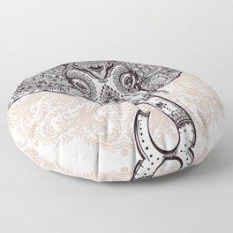 Elephant on Mandala Floor Pillow