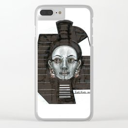 Girl King Clear iPhone Case