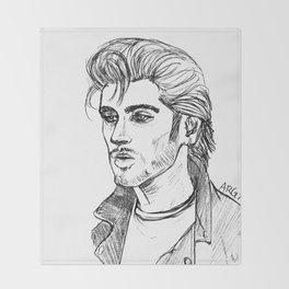 Greaser Zayn Throw Blanket