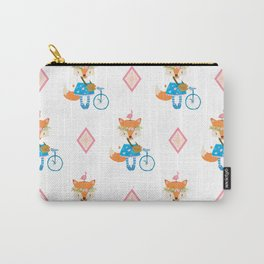 Girl Fox with Pink Diamond Carry-All Pouch