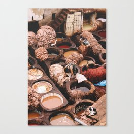 Tannery in Morocco Canvas Print