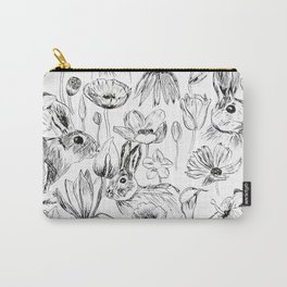 rabbits and flowers parties Carry-All Pouch