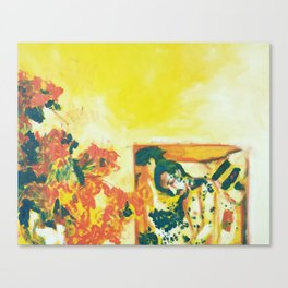 As He Lie In His Grave, He Broke Apart Into Bees Canvas Print