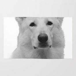 White german shepherd Rug