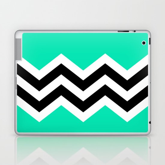 TEAL COLORBLOCK CHEVRON Laptop & iPad Skin