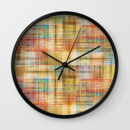 Multicolored patchwork mosaic pattern Wall Clock