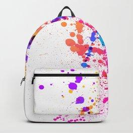 Energetic Expressive Multicolor Paint Splatter Backpack