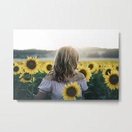 Sunflower Sunset Metal Print