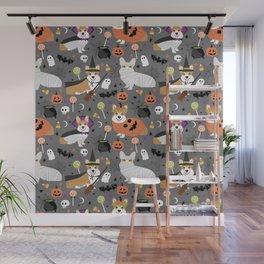 Corgi halloween costume ghost mummy vampire howl-o-ween dog gifts Wall Mural