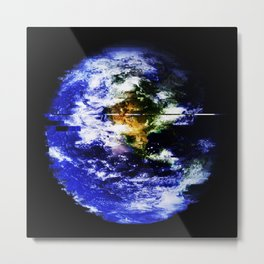 Blue Marble (West) Metal Print