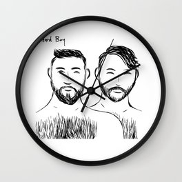 Beard Boys 3 Wall Clock