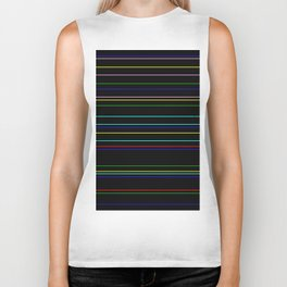 Nightlife - Coloured Stripes On Black Biker Tank
