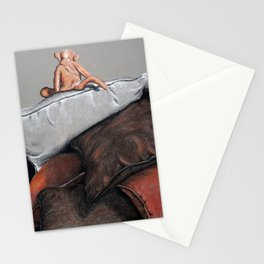 Atop the pillow mountain Stationery Cards