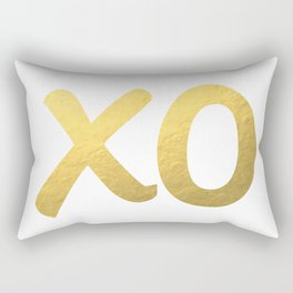 XO gold Rectangular Pillow