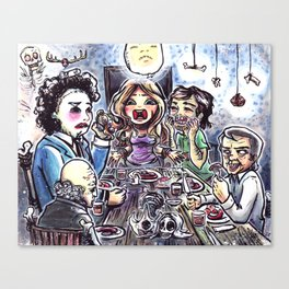 Dinner with the Family Canvas Print