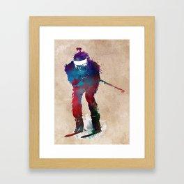 Biathlon sport art 2 #biathlon #sport Framed Art Print