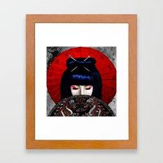 Sadness of a Geisha Framed Art Print