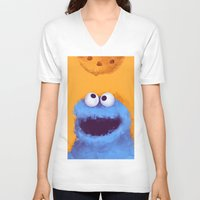 cookies V-neck T-shirts featuring Cookies  by Lime