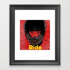 Ride / title Framed Art Print