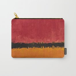 Untitled After Rothko Low Poly Geometric Triangles Carry-All Pouch