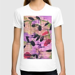 Purple Garden. Purple, Vines, Garden, Flowers, Green, Abstract, Jodilynpaintings T-shirt
