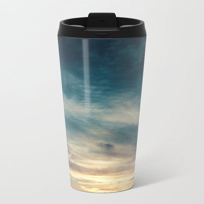 Summer Clouds Metal Travel Mug