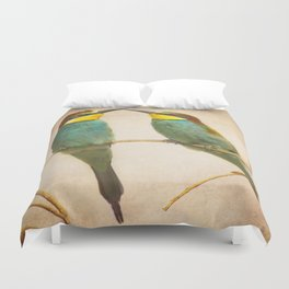 Love time. Bee-eaters Duvet Cover