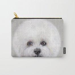 Bichon illustration, Dog illustration original painting print Carry-All Pouch