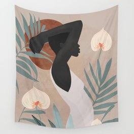 Tropical Girl 4 Wall Tapestry
