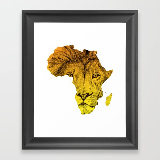 King Of The Jungle! Framed Art Print