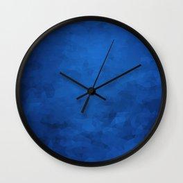 LowPoly Blue Wall Clock