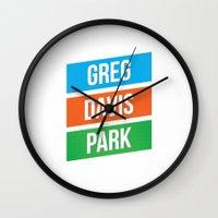 greg guillemin Wall Clocks featuring Greg Davis Park by Parks of Seattle