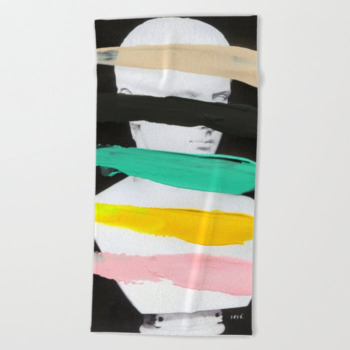 Untitled (Finger Paint 1) Beach Towel