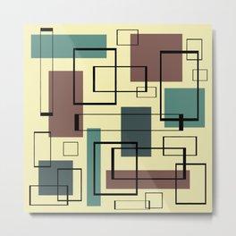 Mid Century Modern Rectangles Metal Print