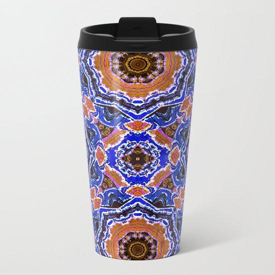 Tiled Kaleidoscope Mandalas Metal Travel Mug