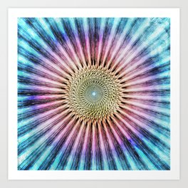 Textured Mandala Tie Dye Art Print