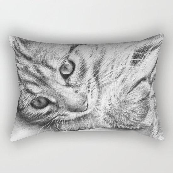 Cat Kitten Dawing Rectangular Pillow