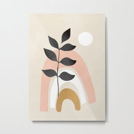 Minimal Abstract Shapes 16 Metal Print