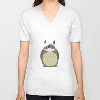 miyazaki V-neck T-shirts featuring Miyazaki Tribute by Kororo