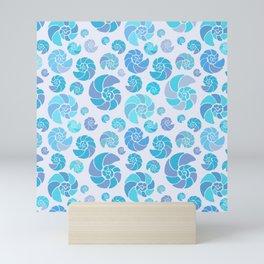 Sea shells pattern pastels #3 Mini Art Print